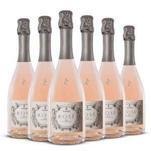 Confezione 6 bottiglie Spumante Rosè Pinot Nero Brut – Canella